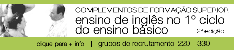 2ª edição dos complementos de formação superior para o ensino de inglês no 1º ceb