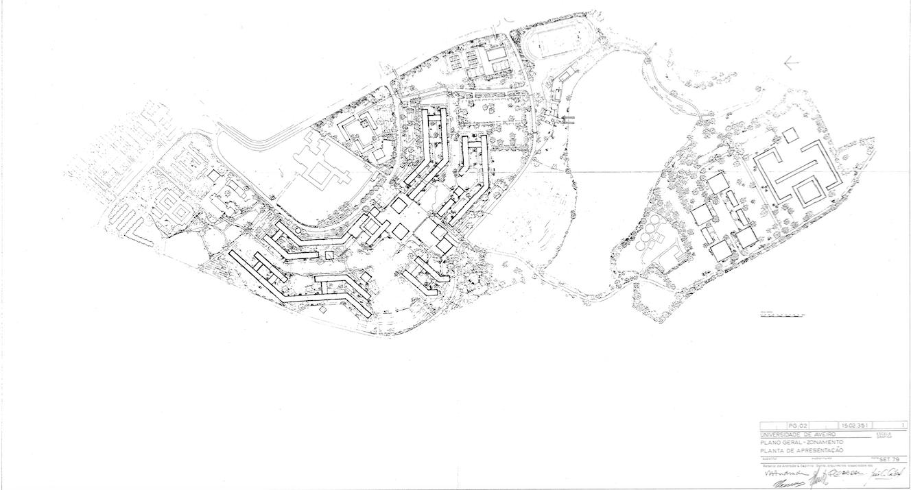 Planta do Plano Geral da Universidade