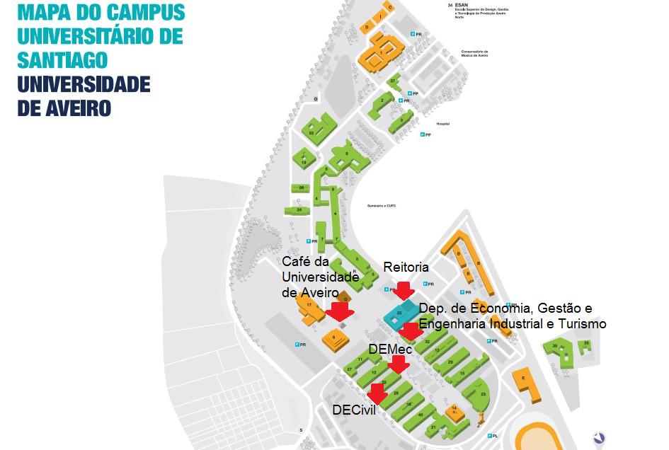 mapa campus ua crepat › Mapa do campus UA mapa campus ua